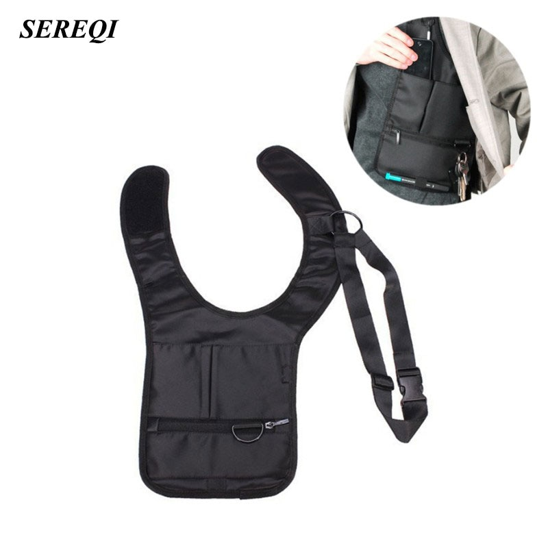 Мужская Дорожная сумка SEREQI, сумка для хранения со скрытым карманом под руку, Mp3, паспорта, держатель для мобильного телефона, Органайзер