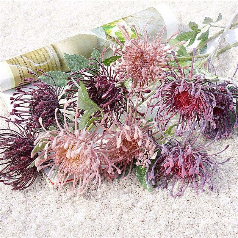 10Pcs Fake Pincushion Flowers 27.56