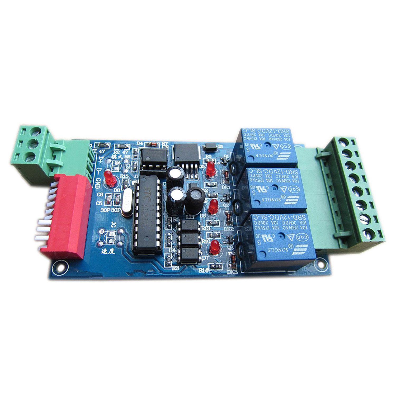 Novo 3 canais 5a dmx512 controlado relé interruptor kit diy conversor dmx dimmer relé