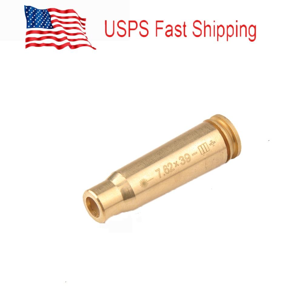 EUA Tactical Laser Boresighter CAL 7.62X39 Cartucho Laser Bore Sighter Latão Red Laser Boresighter com Bateria