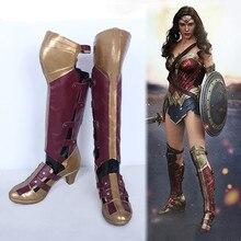 Nouveau film Batman v Superman Wonder femme Diana Prince Cosplay bottes Halloween Cosplay chaussures pour femmes taille 35-42