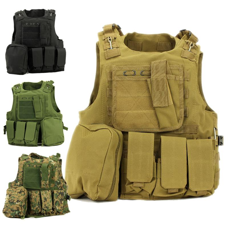 Equipo Militar Molle táctico chaleco de asalto Airsoft portador Multicam ejército Molle Mag munición pecho aparejo Paintball cuerpo armadura arnés