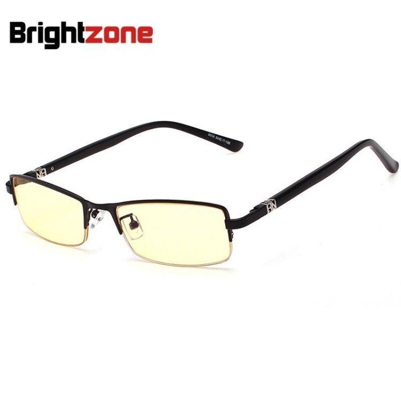 High Quality Rim Slim Computer Glasses Men Brand Designer Yellow Lens Anti Blue Ray Radiation Rimless Gaming Eyeglasses Eyewear
