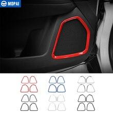 MOPAI ABS voiture porte intérieure Audio son haut-parleur décoration couverture garniture autocollants pour Jeep boussole 2017 Up voiture accessoires style