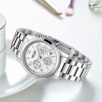 MEGIR חדש אופנה הכרונוגרף מצופה קלאסי קוורץ גבירותיי שעון נשים גבישי שעוני יד Relogio Feminino