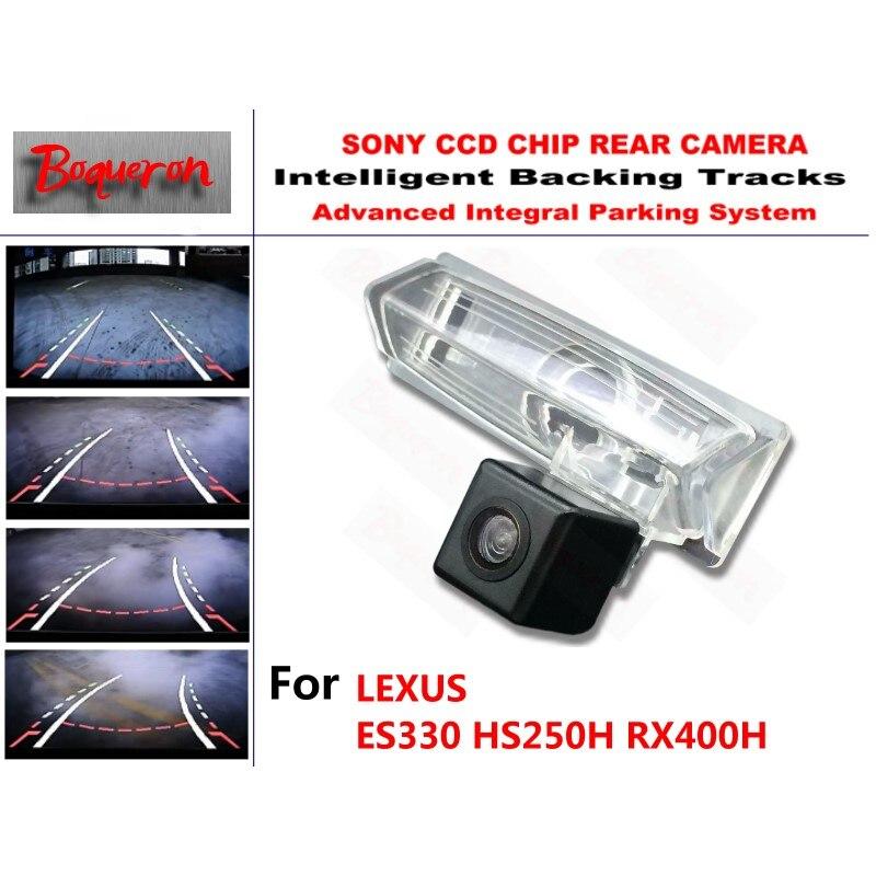 Para LEXUS ES330 HS250H RX400H cámara CCD de aparcamiento de respaldo de coche pistas inteligentes guía dinámica cámara de visión trasera
