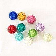 Showlove Lot de 10 pc assorties couleur cristal Ferido balle époxy CZ pierre boule Piercing accessoires bijoux de corps 16G & 14G