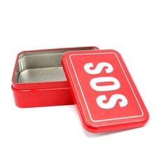 SOS Outdoor Box Überleben Notfall Lagerung Box Fall Container für Kompass Folding Messer Zange Draht Pfeife Sägen Taschenlampe