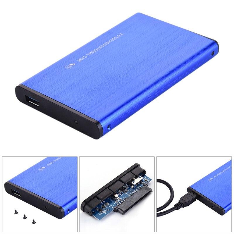 Caja de Disco Duro externa SATA3.0 de aleación de aluminio USB3.0 SDD/HDD de 2,5 pulgadas compatible con un máximo de 3 TB, Protocolo UASP, Disco Duro