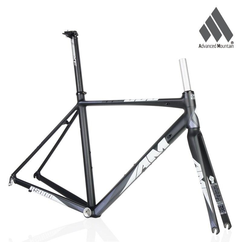 Marco de aleación de aluminio ligera AM R5000 700c horquilla de carbono 48/50/52cm Marco de bicicleta de carretera