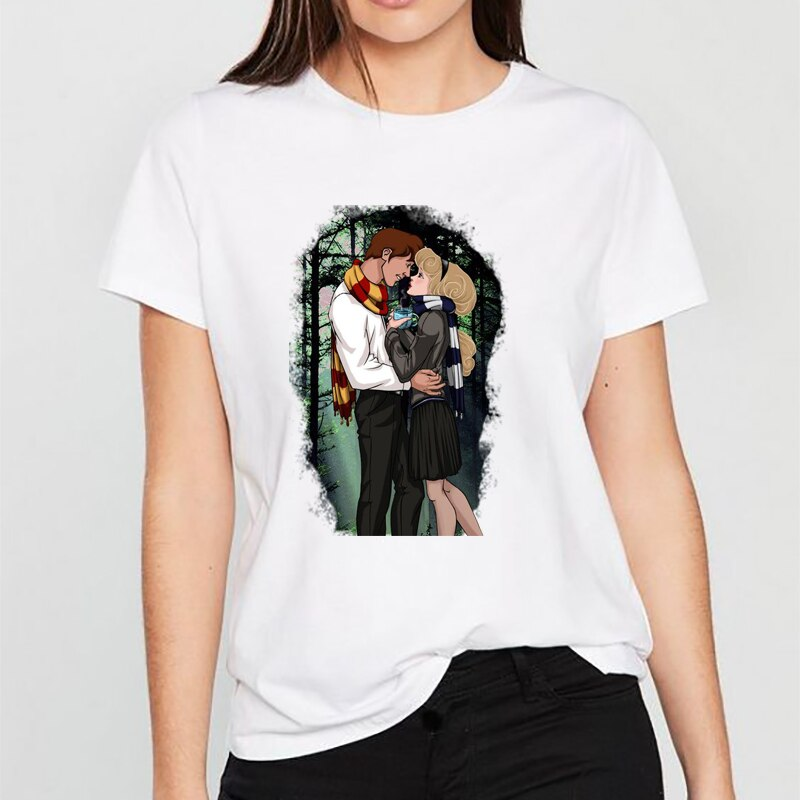 Femmes 2019 été Harajuku t-shirt Camiseta Mujer graphique t-shirts Prince câlin princesse coréenne Kawaii hauts Streetwear t-shirt Femme