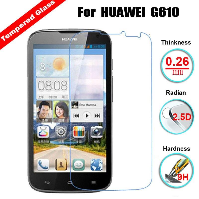 Vidrio Templado 9H 2.5D para Huawei Ascend G610 C8815/G620s/G630/G6/G730/G7/P6/P7/Y511/Y530/Y600/C8816