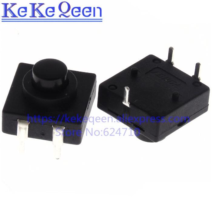 100 unids/lote doble fila Vertical LED linterna interruptor 3 pines ON-OFF 12*12 ultra- delgada 213BS CB1212-213BS