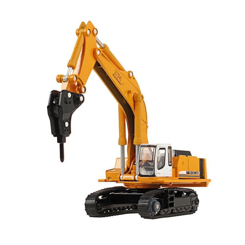Alloy engineering vehicle truck model 1:87 crusher earth drilling machine lander crawler rock drill children's toys car