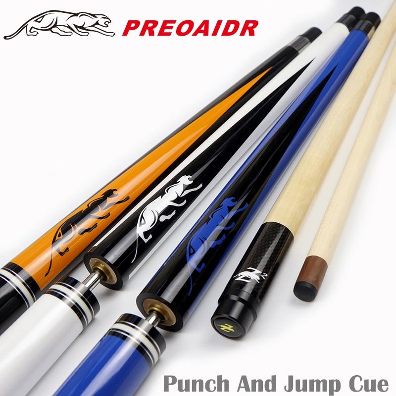 3142 Punch & Jump Jump & Soco Cue Cue 3-Peça 13mm Salto Ponta Taco de Bilhar Cue soco de bilhar Vara Kit 2 Funções em Um