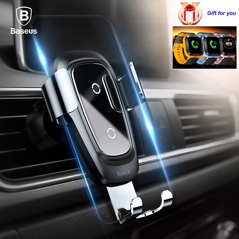 Carregador sem Fio para Iphone Rápido sem Fio Almofada do Carregador de Carro Suporte do Telefone Plus Samsung s9 Mais s8 Móvel Holdery21s Relógio 10w qi x 8