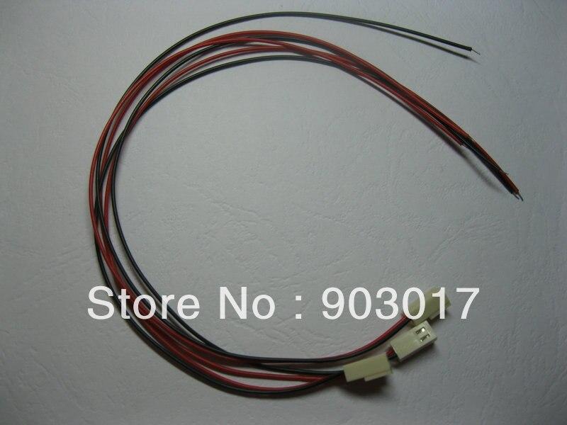 24 Stks Per Lot 2510 Pitch 2.54mm 2 Pin Vrouwelijke Connector met 26AWG 300mm Leads Kabel 2510-2 P HOGE Kwaliteit HOT koop