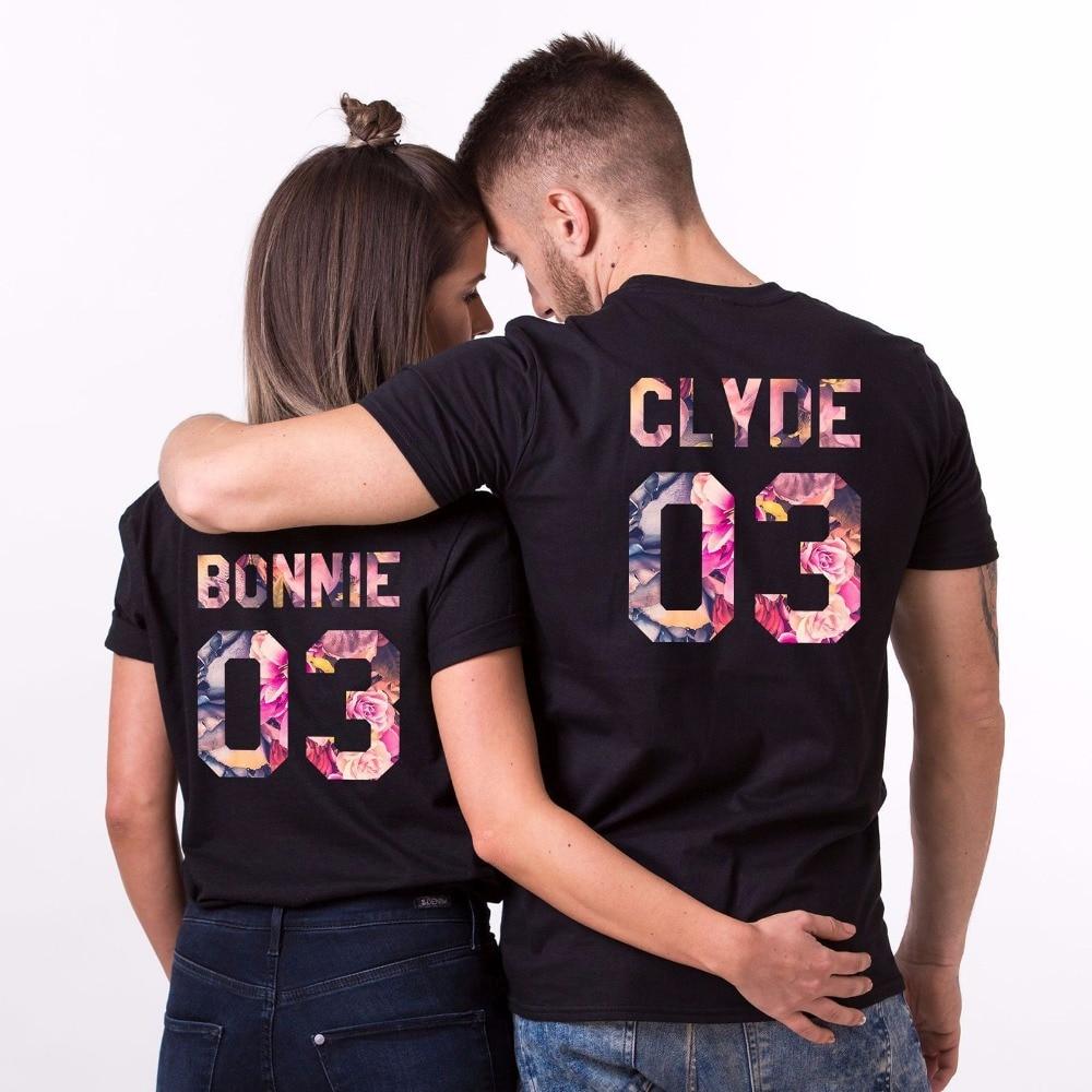2019 hombres de los nuevos hombres de los hombres de algodón de la camiseta de Bonnie y Clyde flor Juego superior su Hersurban Kpop T camisa sudadera