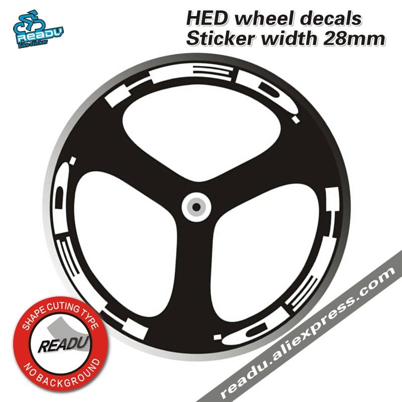 Hed adesivos rodas do volante mortos decalques adesivo largura 28mm hed três rodadas de rodas decalques para duas rodas adesivos