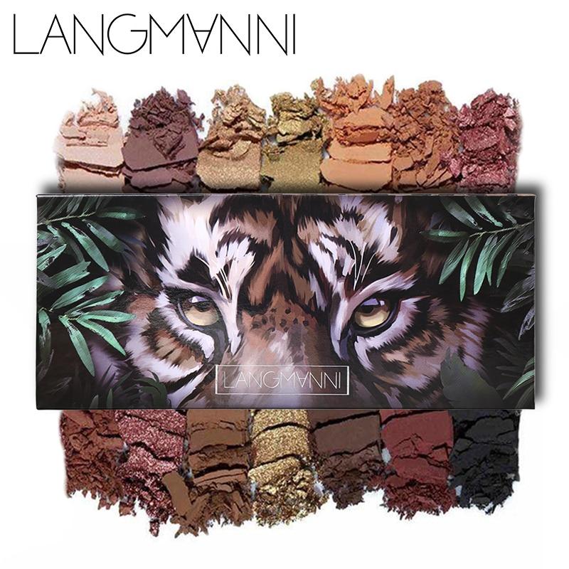 12 cores Shimmer Paleta Da Sombra de Olho de Tigre Brilho Da Sombra de Maquiagem Paleta Nu À Prova D Água Descoberta Beleza Natural Fosco