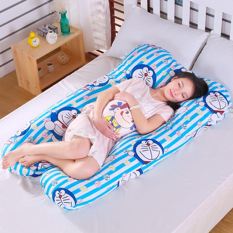 ドラえもん u 型のベリーベッド枕妊娠大枕産科体腰椎枕のサイド枕木クッション