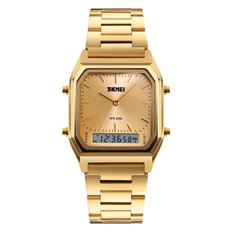 Relojes creativos de moda para hombre, relojes de pulsera de lujo dorados de acero inoxidable, relojes casuales de marca para hombre, reloj Masculino