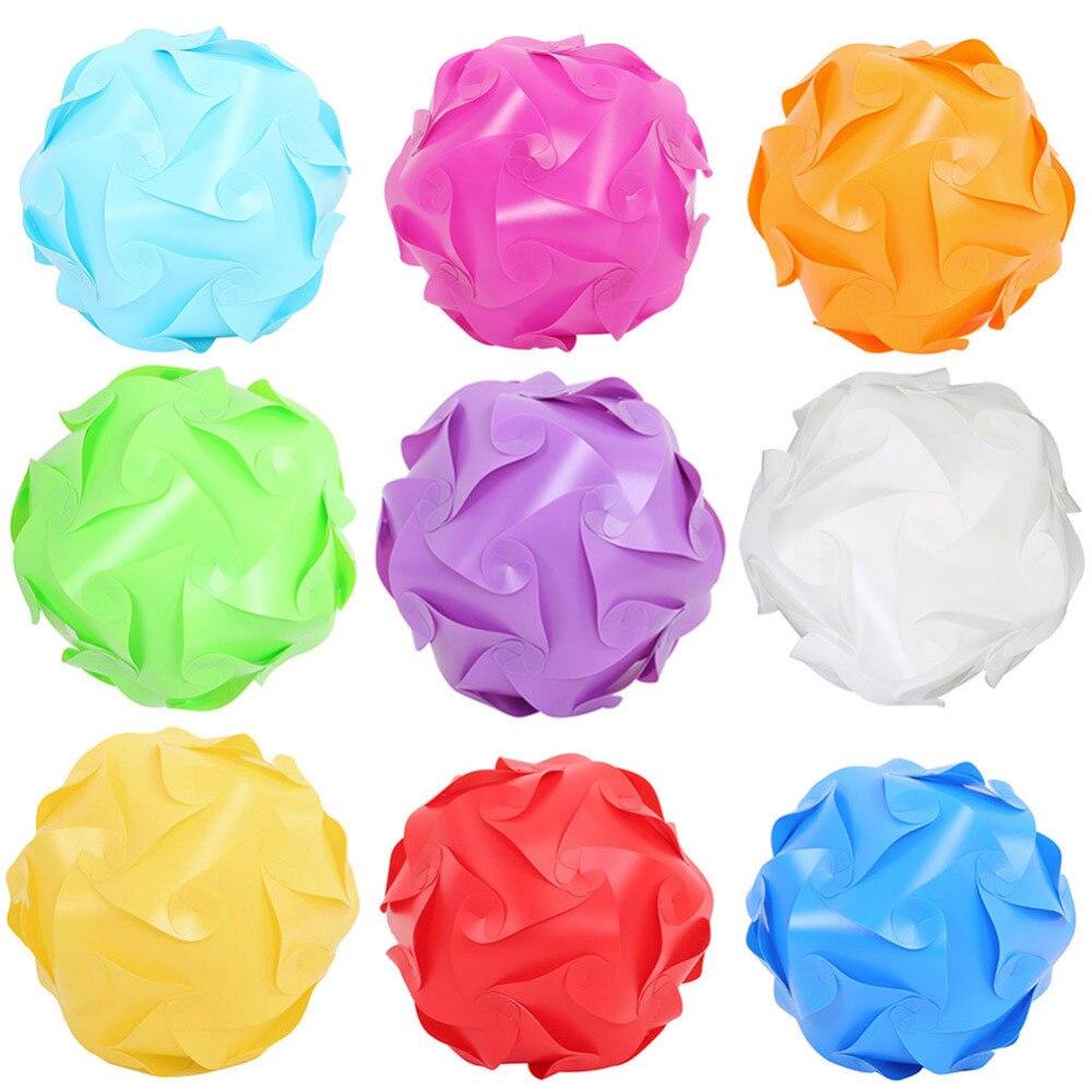 Bolas de fiesta modernas de PP DIY de 1 Uds., 8 colores, novedosas lámparas IQ, rompecabezas de sombra, luces de rompecabezas, pantalla de techo LED para Bar, boda y fiesta