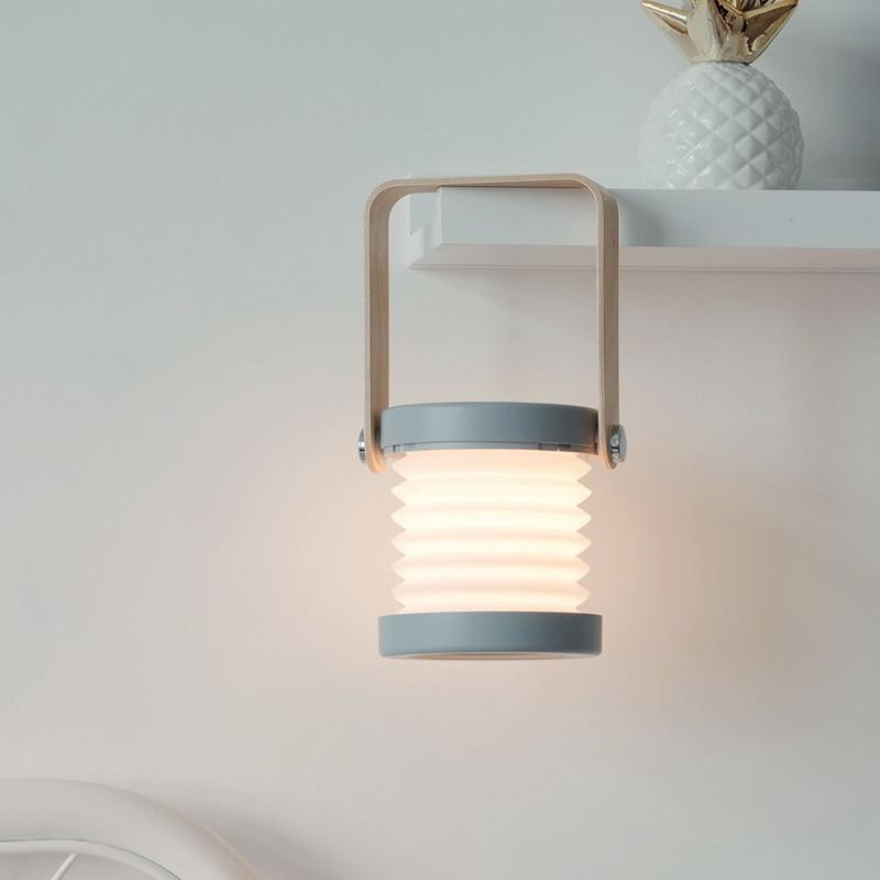 Lámpara LED de mesa de escritorio con control táctil y carga por USB, lámpara de lectura plegable para dormitorio doméstico