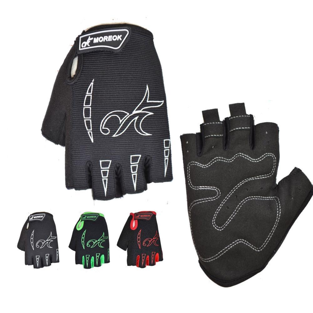 Mens Gloves Polyester Shock-proof Sponge Sport Racing Summer Half Finger MTB Bicycle Bike Cycling Gloves