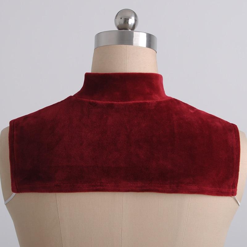 Warm Velvet Fake Collar Fashion Women Solid Collar Detachable Collar Lapel Blouse Ladies Clothes Accessories