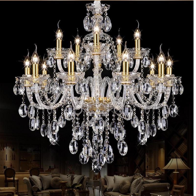 Candelabro dorado de lujo para comedor, cocina, salón moderno, E14 candelabro de...