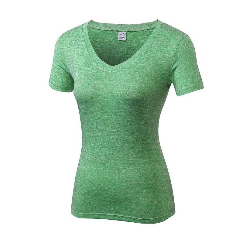 Women Quick-drying High Elastic Sports T-shirt Short Sleeves Fitness Women Top Clothes Top Soft  Sale Hot