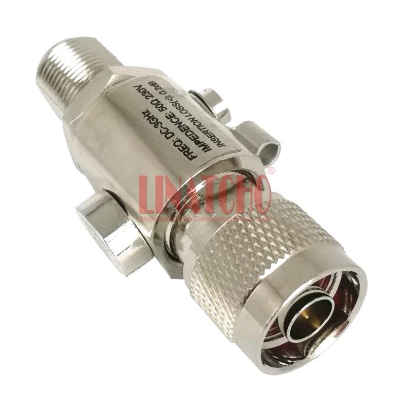 DC-3GHz 230 V N hembra a N coaxial macho Marina antena rayo, supresor de picos de tensión