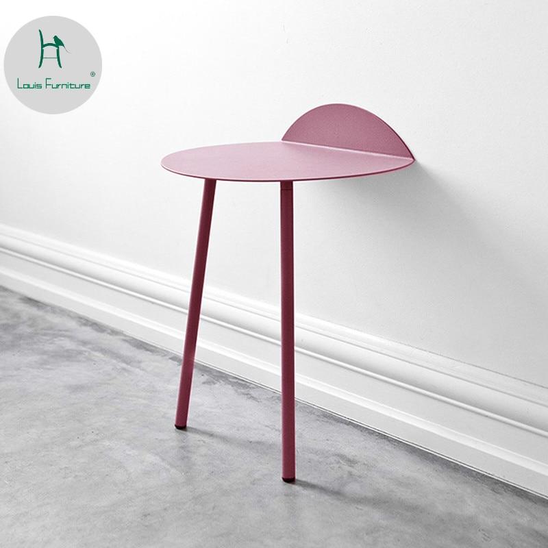 Louis moda nordic ironside criativo mesa lateral sala de estar contra a parede sofá simples chá quarto muito simples