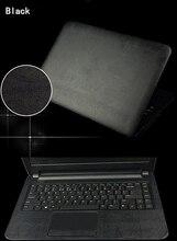 Protecteur de protection de peau dautocollant en cuir de serpent de Crocodile de fibre de carbone dordinateur portable de KH pour Acer M3-581 15