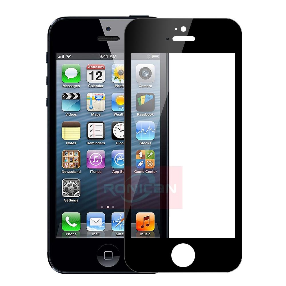 Закаленное стекло с полным покрытием для Apple iPhone 5 SE 5C, защита экрана 9H, защитная пленка, стекло для iPhone 5 Se