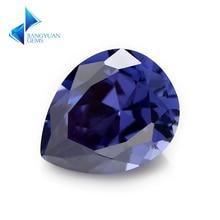 Poire 5A bleu CZ pierre 2x3-10x14mm gemmes synthétiques zircone cubique pour bijoux