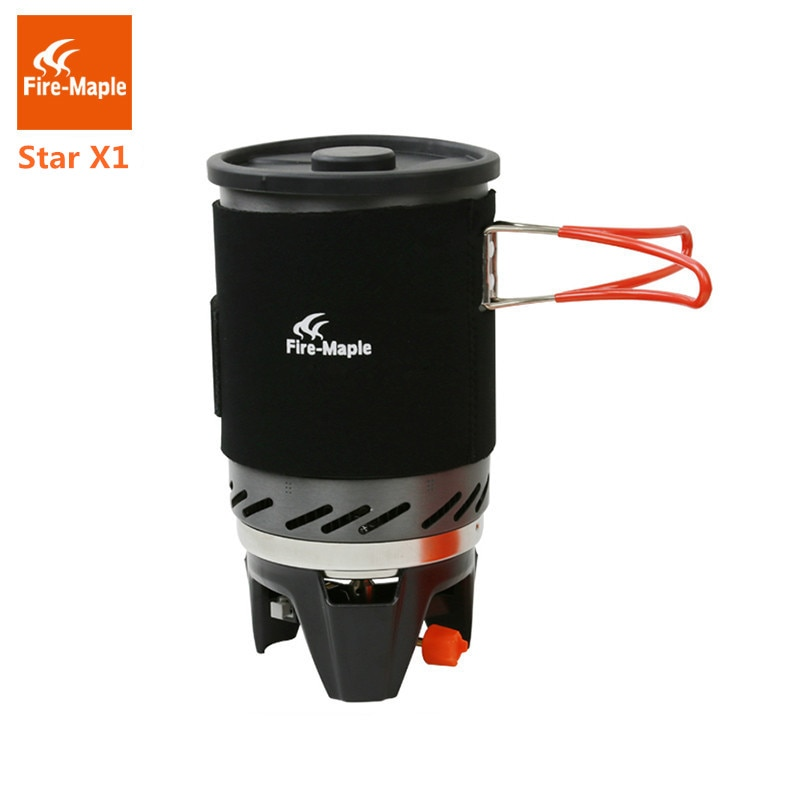 النار القيقب ستار X1 مواقد التخييم في الهواء الطلق المشي الطبخ نظام مع موقد الحرارة مبادل وعاء وعاء المحمولة مواقد تعمل