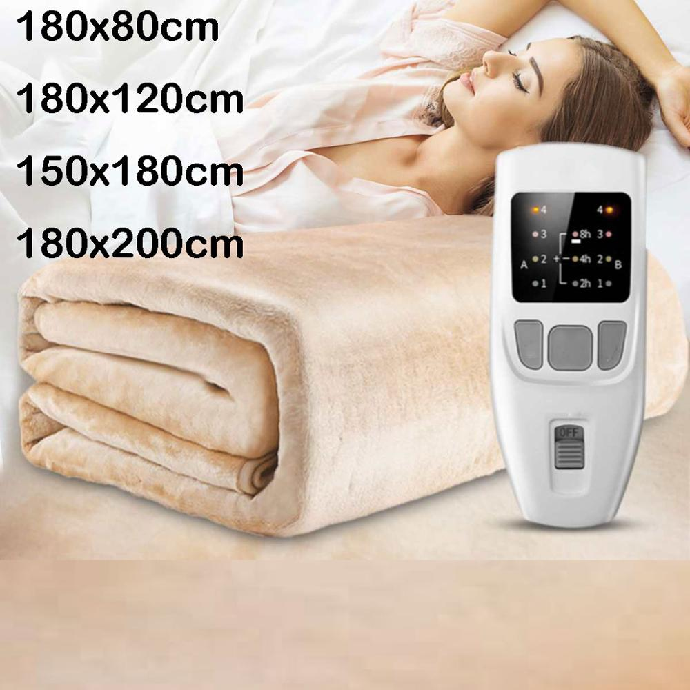 Manta calefactora eléctrica de terciopelo de alta calidad con regulador de la sincronización de temperatura de 4 engranajes