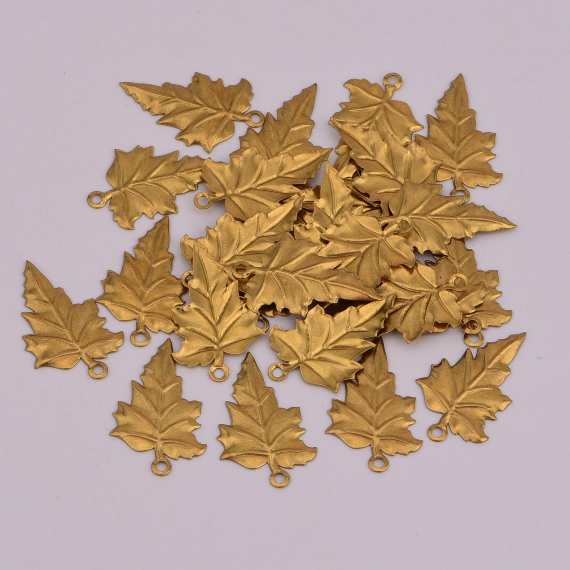 23*14.5mm 20 pcs listrado folhas encantos de cobre Ventilador Planta maple leaf forma de banana Atacado colar brinco jóias handmad DIY