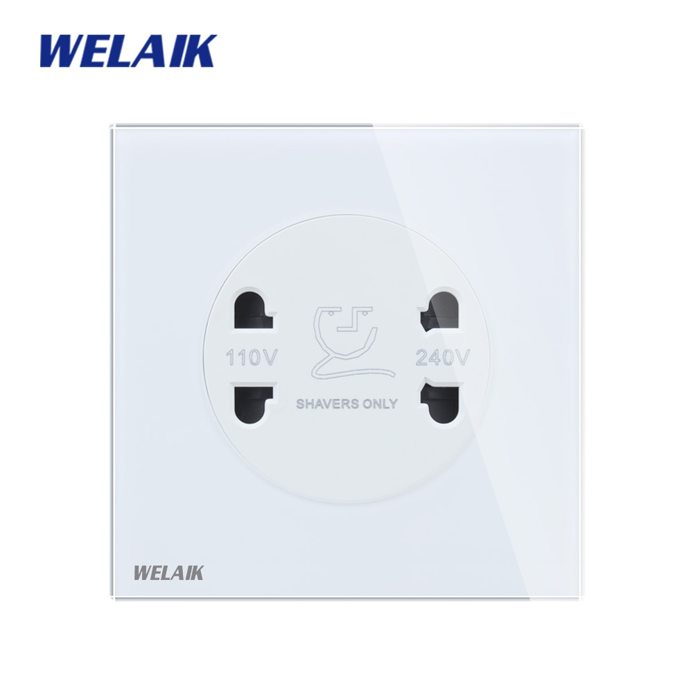 WELAIK-لوح زجاجي مقسّى ، ماكينة حلاقة ، مقبس طاقة ، 2A ، معيار المملكة المتحدة ، B18TXW