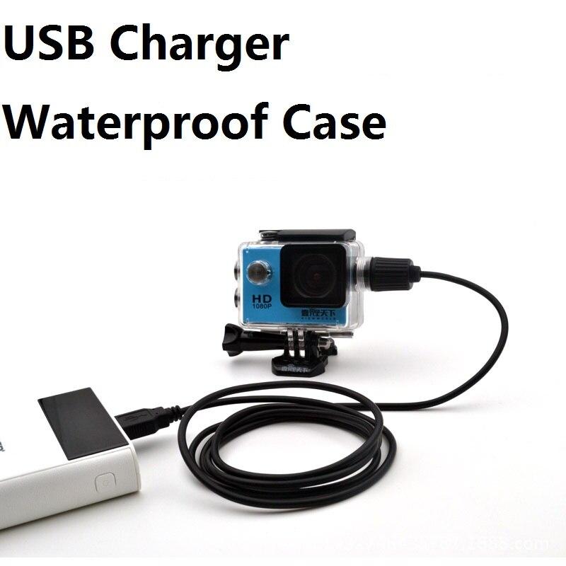 Аксессуары для спортивной камеры, водонепроницаемый чехол с зарядным устройством и usb-кабелем для SJCAM SJ4000 Air Sj7000 C30 EKEN H9 H9R для мотоцикла