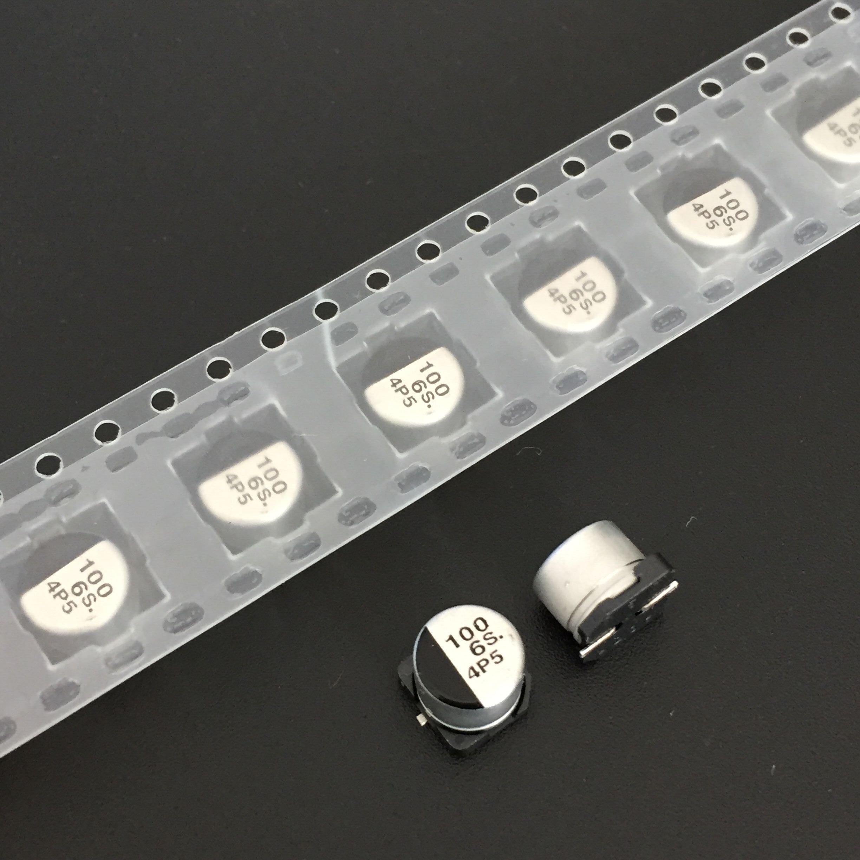 10pcs 100uF 6.3V S series 6.3x5.4mm Original 6.3V100uF SMD Aluminum Electrolytic Capacitor