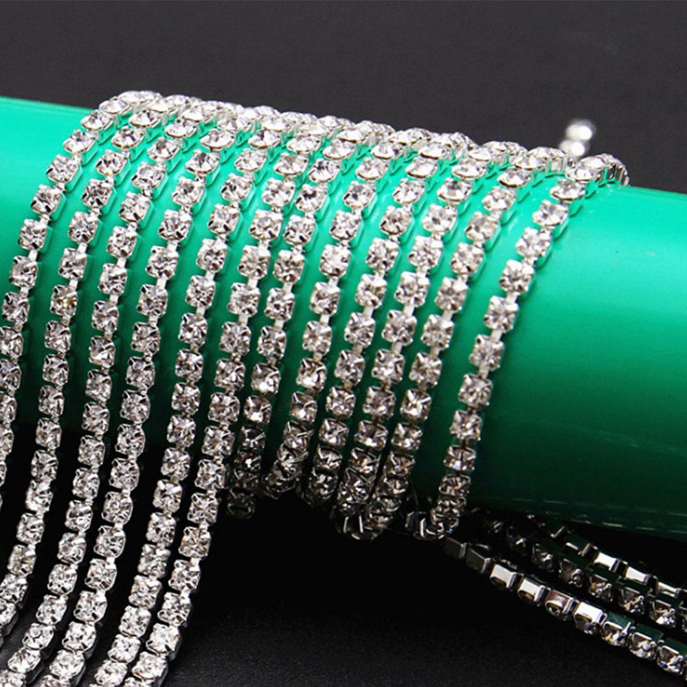 Claw Chain Diamond Glass Mesh Wrap Ribbon Roll Cake Rhinestone Wedding Favor Decor Party Supplies DIY Decorations 90cm