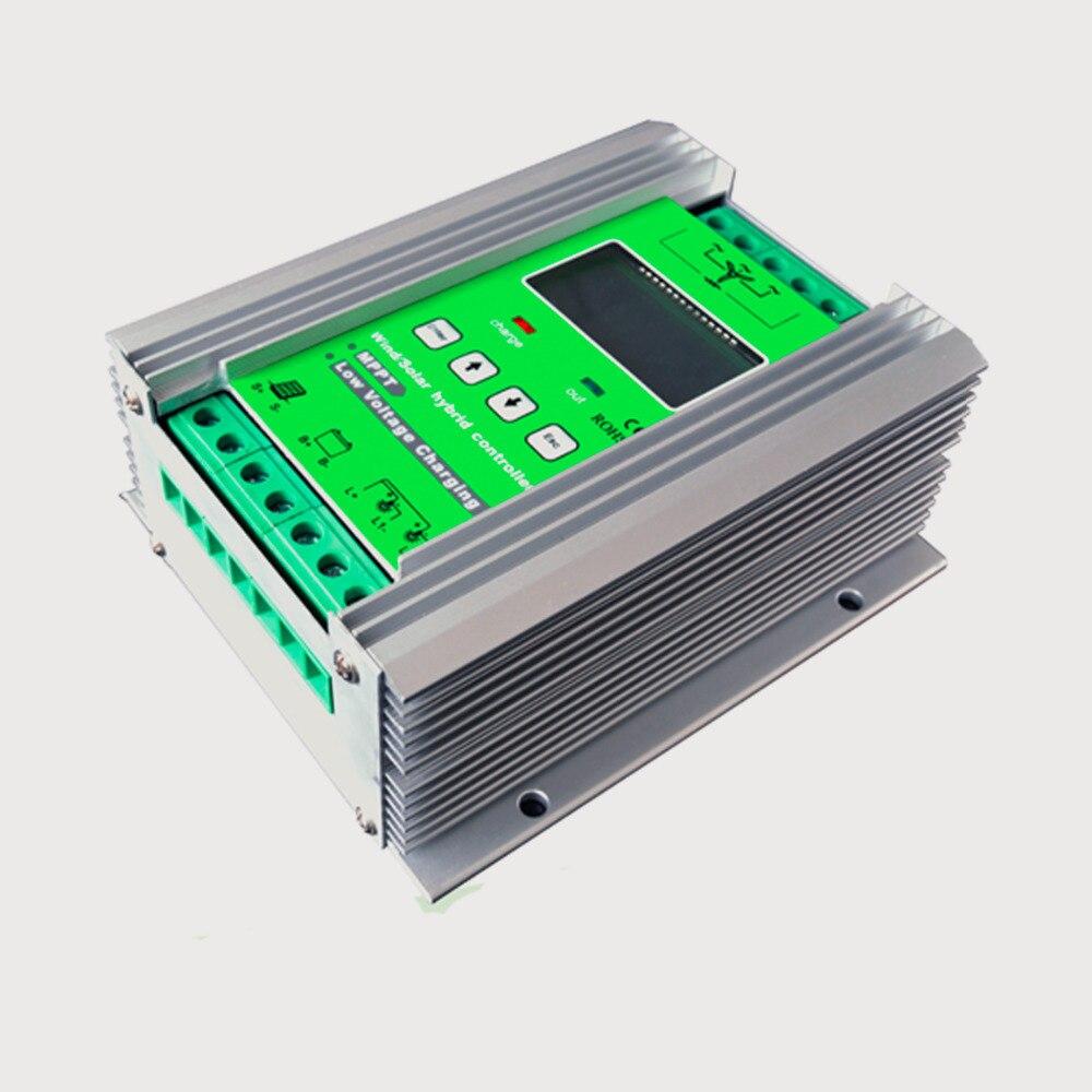 24 V 800 Watt hybrid mppt wind solar system controller mit dump lastwiderstand 500 Watt wind + 300 Watt solar