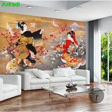 Papier peint photo personnalisé robe de danse   Magnifique lune, peinture à lhuile, Restaurant église, ameublement de maison