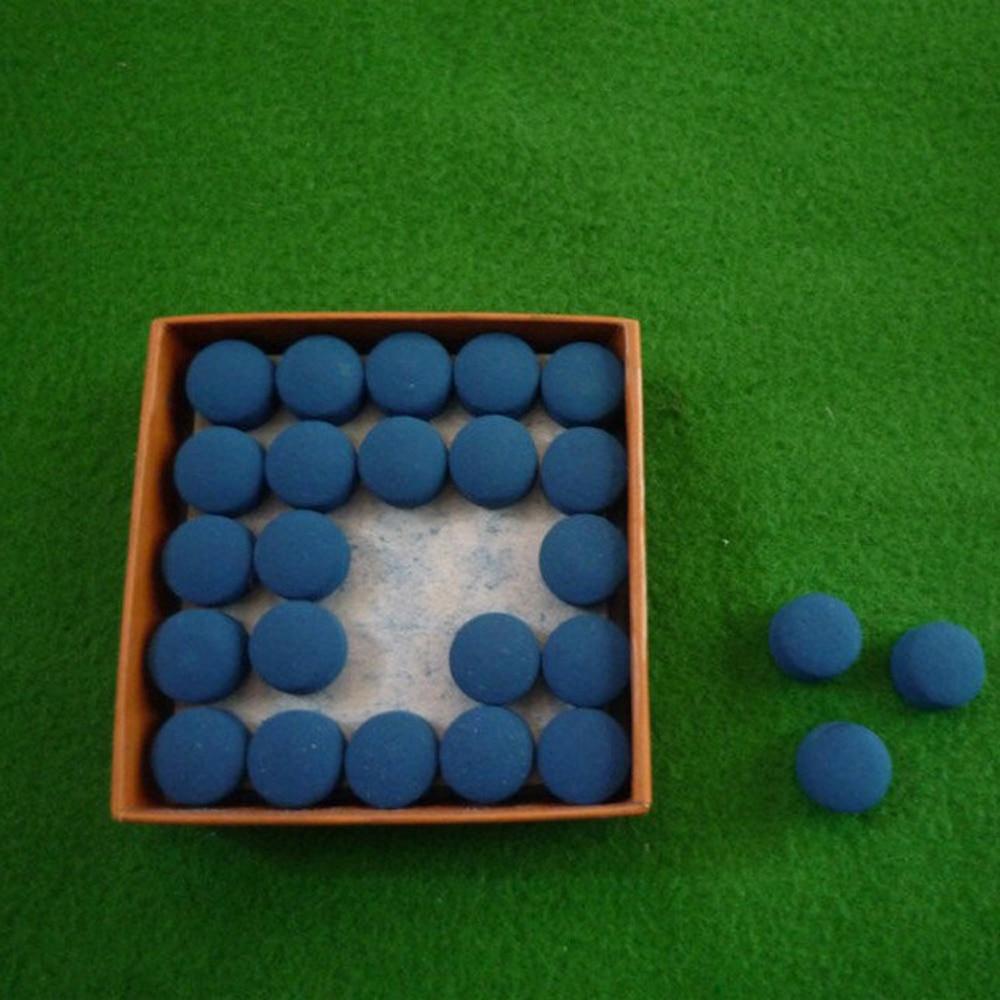 50 stücke Tisch Cue Tipps Laminiert Blaue Farbe Pool Snooker 9mm/10mm/11mm/12mm/13mm