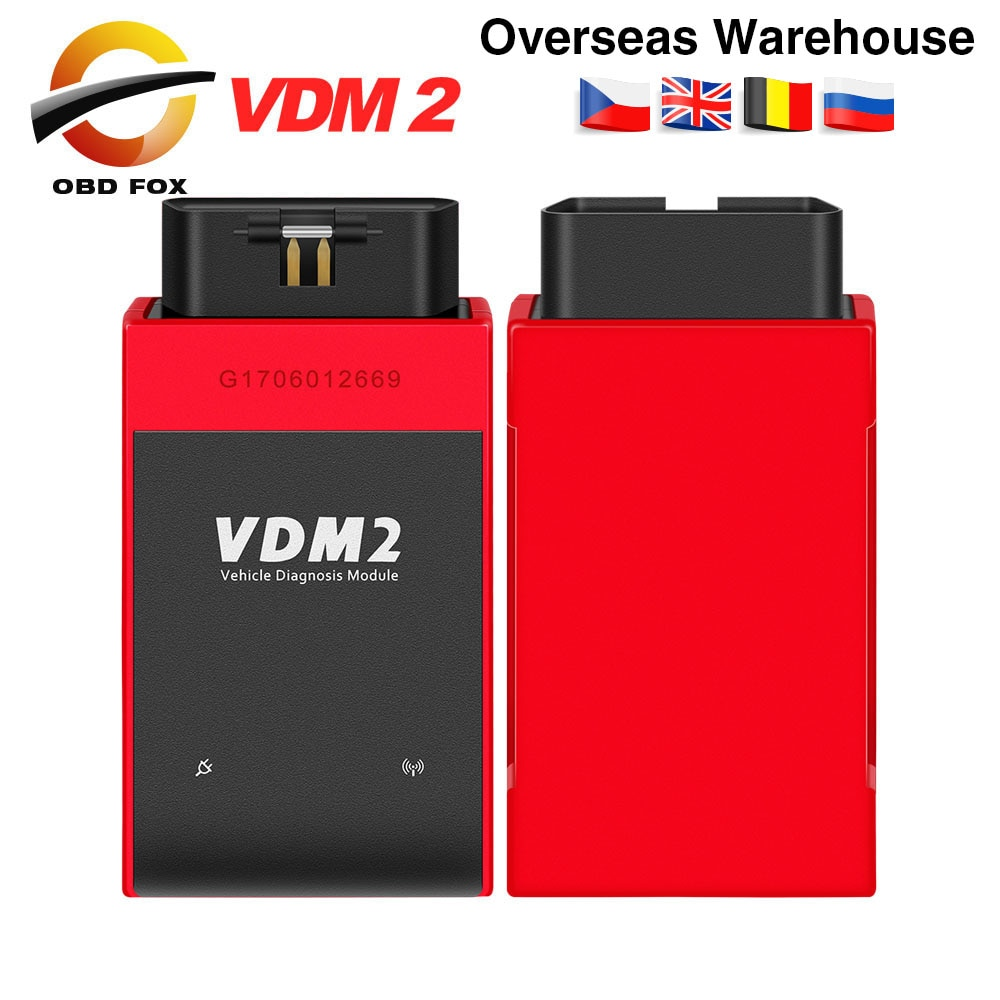 UCANDAS VDM2 VDM II UCANDAS WIFI سيارة السيارات سكانر VDM 2 V5.2 دعم متعدد اللغات و الروبوت نظام شحن مجاني