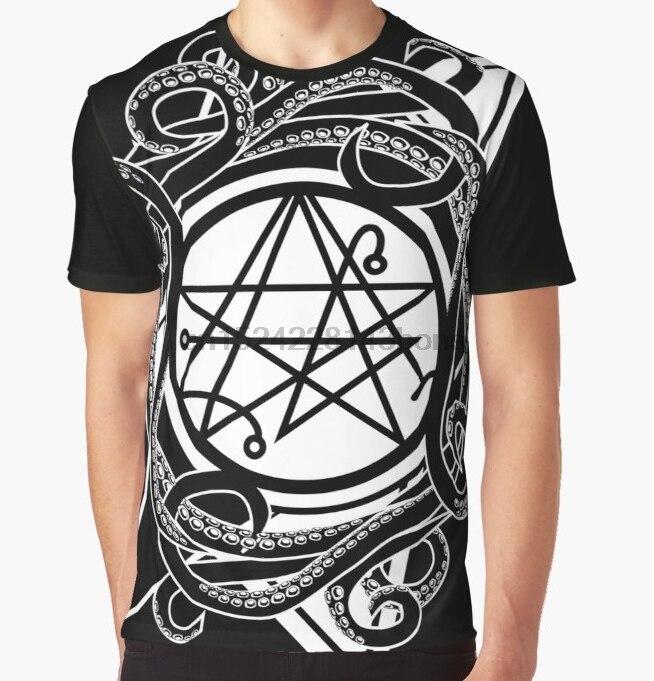 Camiseta estampada para hombre, camiseta Funy Necronomicon gate Sigil of the gateway Graphic Tops, camiseta para mujer