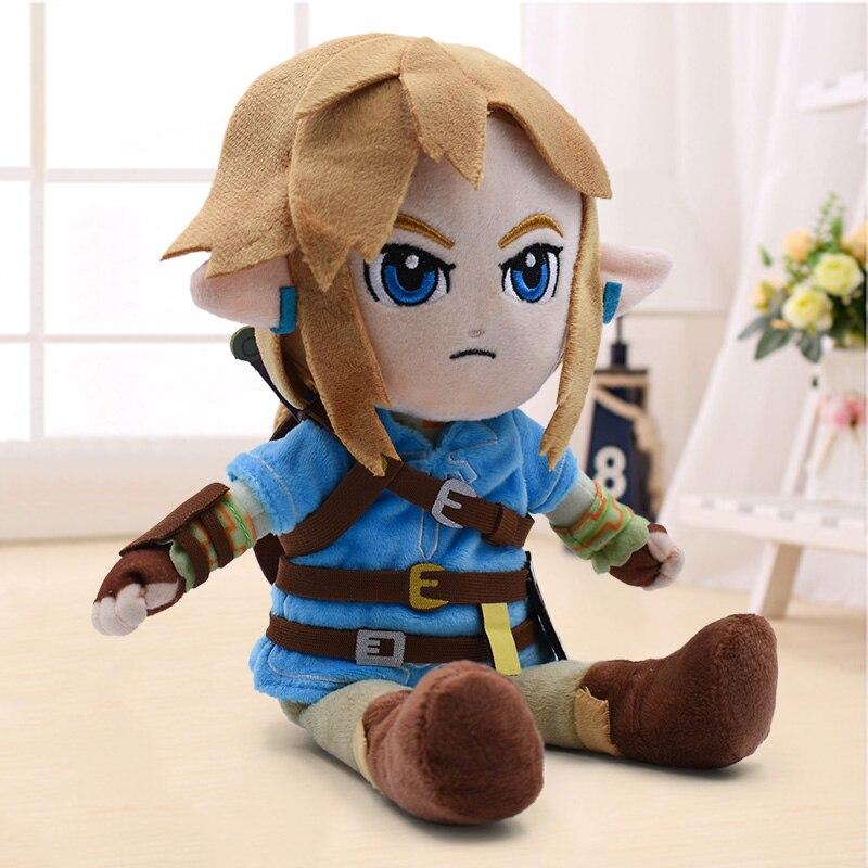 Neue Ankunft 27cm Zelda Plüsch Spielzeug Cartoon Link Junge Mit Schwert Weiche Angefüllte Puppe für Kinder Beste Geschenk